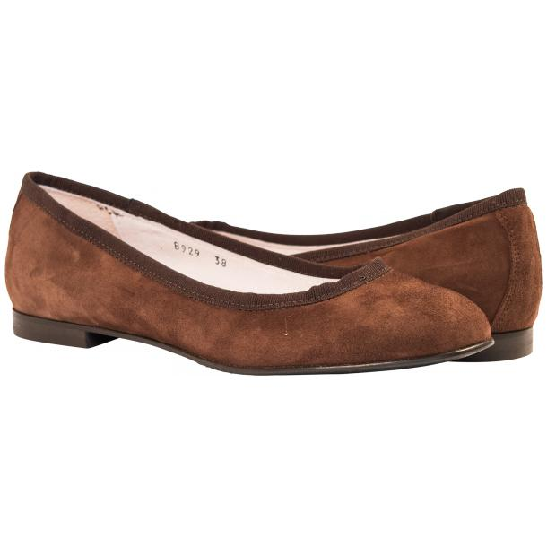 Denise Brown Suede Ballerina Flats full-size #1