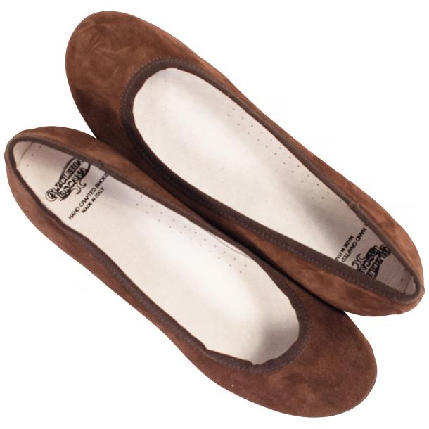 Denise Brown Suede Ballerina Flats thumb #2