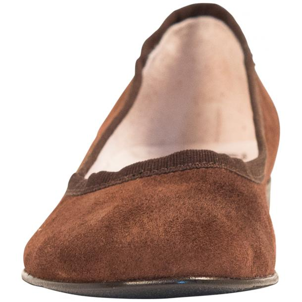 Denise Brown Suede Ballerina Flats thumb #3