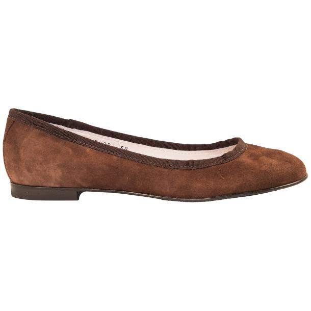 Denise Brown Suede Ballerina Flats thumb #4