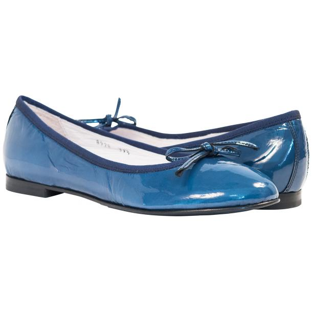 Lisa Jeans Blue Patent Leather Ballerina Flats full-size #1