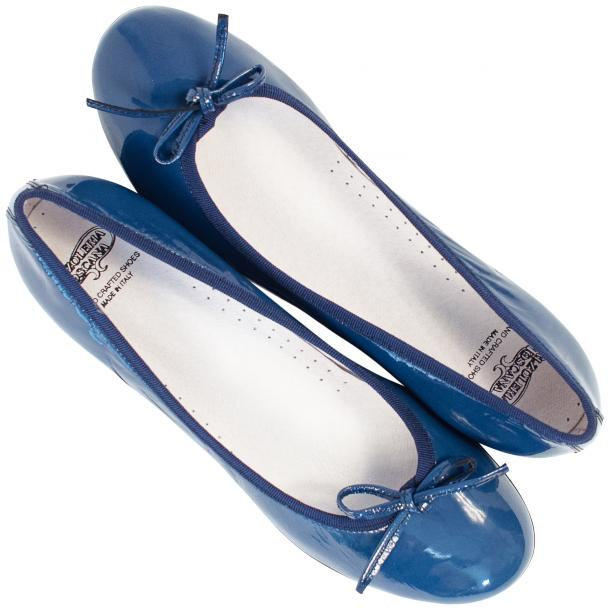 Lisa Jeans Blue Patent Leather Ballerina Flats thumb #2