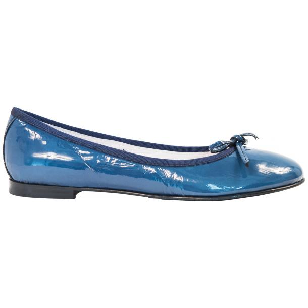 Lisa Jeans Blue Patent Leather Ballerina Flats thumb #4