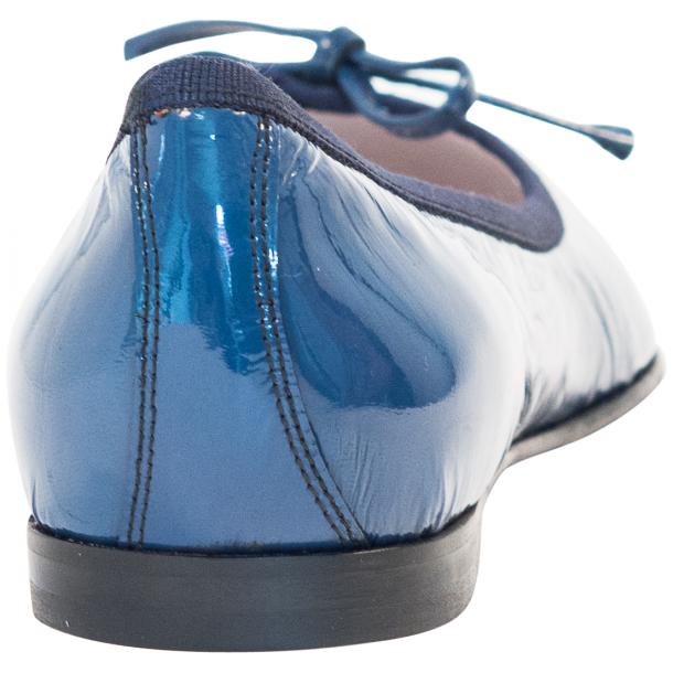 Lisa Jeans Blue Patent Leather Ballerina Flats full-size #5
