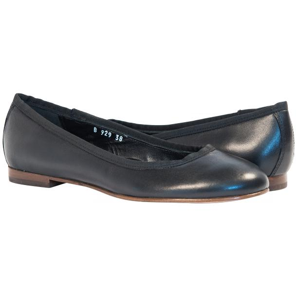 Denise Black Leather Ballerina Flats full-size #1