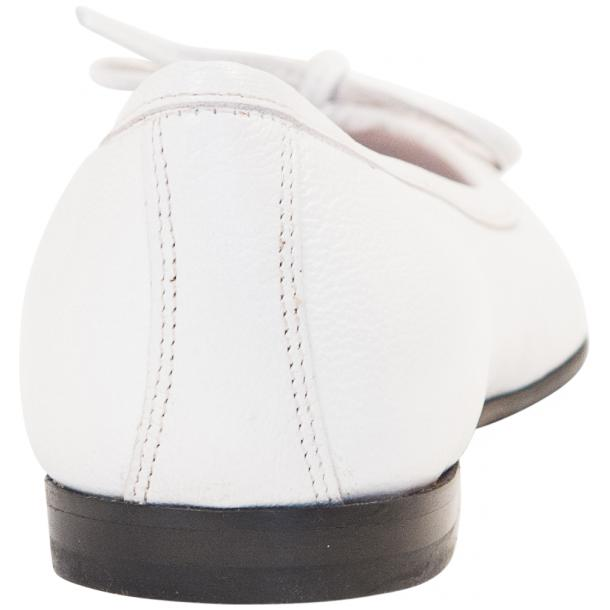 Sammie White Nappa Leather Bow Ballerina Flat thumb #5