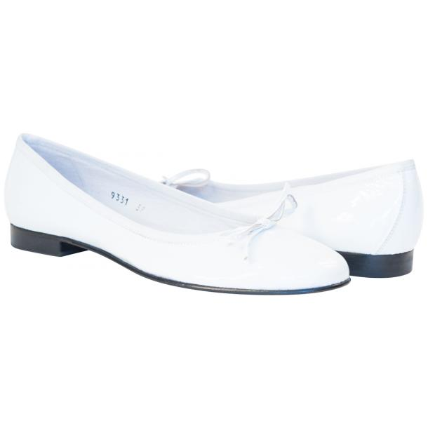 Uma White Patent Leather Ballerina Flat  thumb #1
