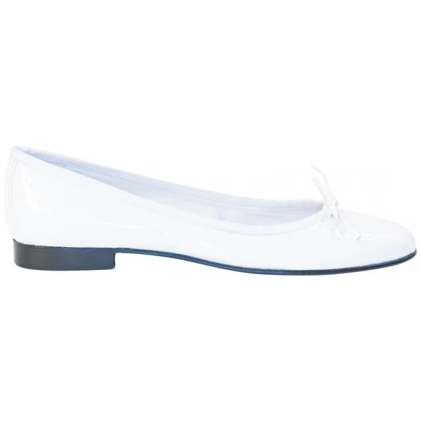 Uma White Patent Leather Ballerina Flat  thumb #4