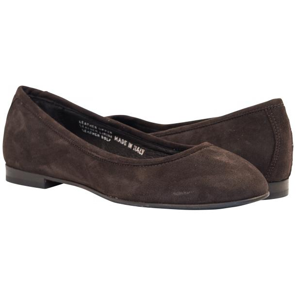 Tina Dark Brown Dip Dyed Suede Ballerina Flats full-size #1