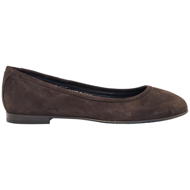 Tina Dark Brown Dip Dyed Suede Ballerina Flats full-size #4
