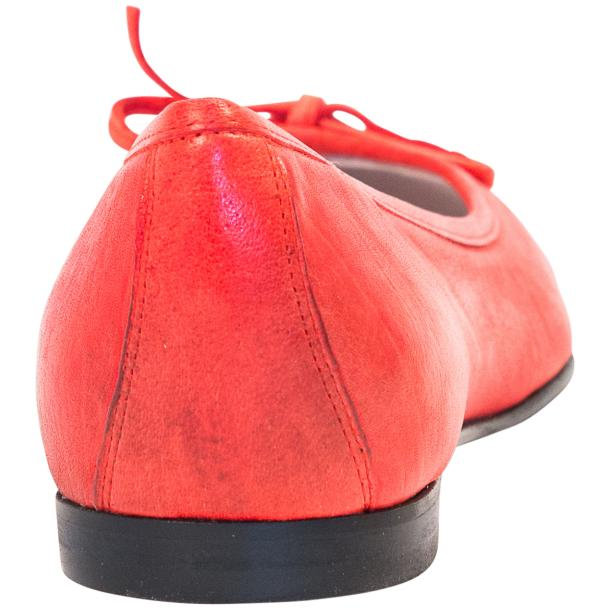 Helena Red Nappa Leather Dip Dyed Bow Ballerina Flats thumb #3