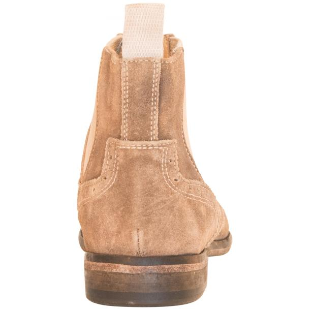 Leila Beige Suede Wing Tip Dip Dyed Chelsea Boot thumb #5