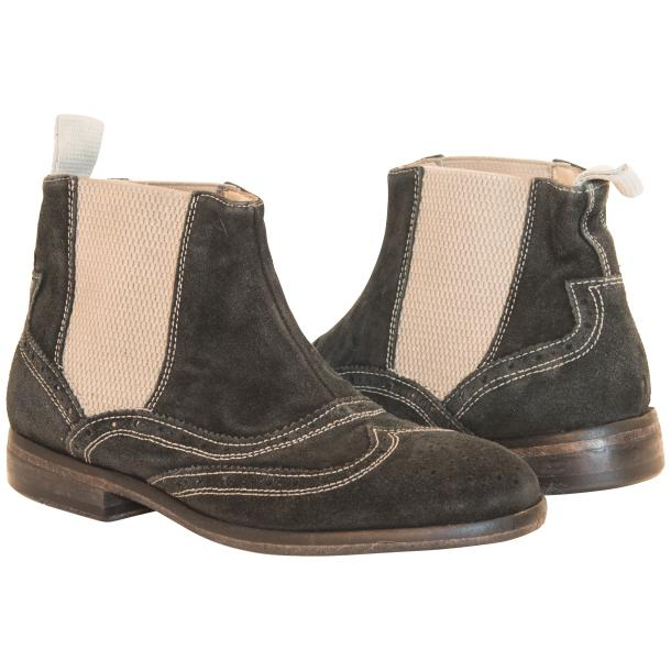 Leila Black Suede  Wing Tip Dip Dyed Chelsea Boot full-size #1
