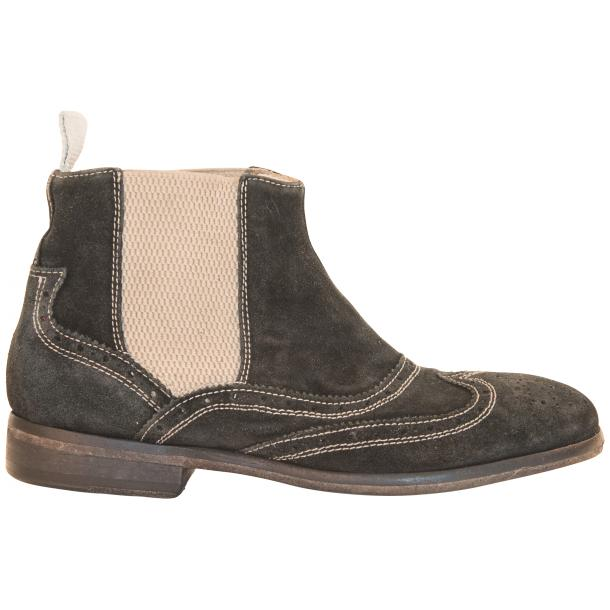 Leila Black Suede  Wing Tip Dip Dyed Chelsea Boot thumb #4