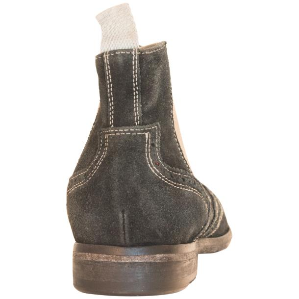 Leila Black Suede  Wing Tip Dip Dyed Chelsea Boot thumb #5