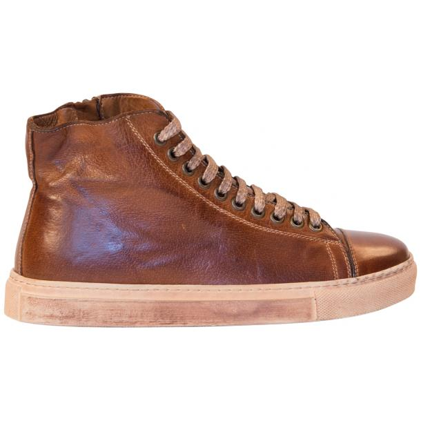 Fiona Dip Dyed Brown High Top Sneaker  full-size #4