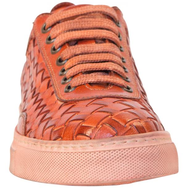 Val Dip Dyed Orange Woven Low Tops thumb #3