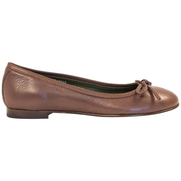 Diamond Brown Dip Dyed Nappa Leather Bow Ballerina Flat thumb #4