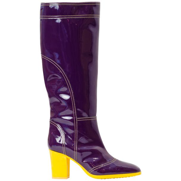 Rain Purple Shiny Tall Boots thumb #3