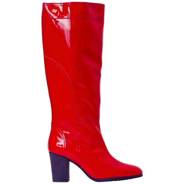 Rain Red Shiny Tall Boots thumb #3