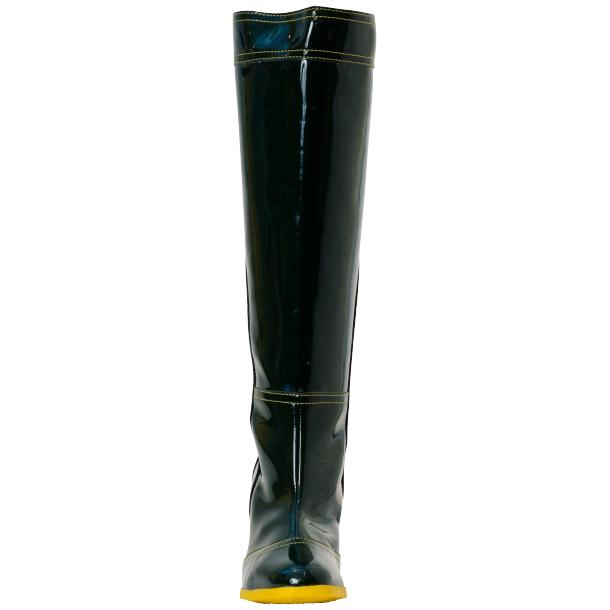 Rain Black Shiny Tall Boots full-size #2