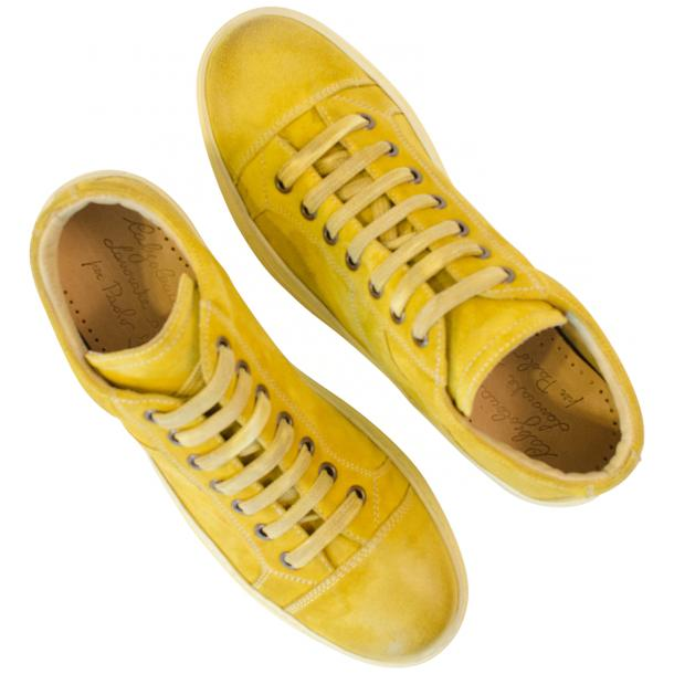 Henrick Yellow Suede Dip Dyed Sneakers thumb #2