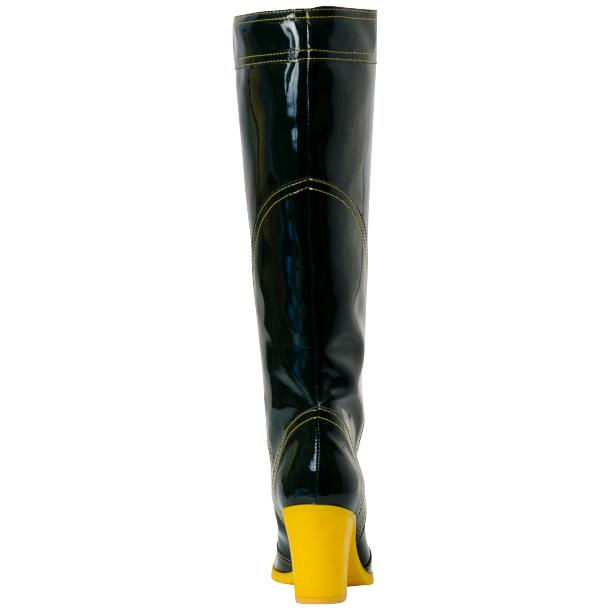 Rain Black Shiny Tall Boots full-size #4