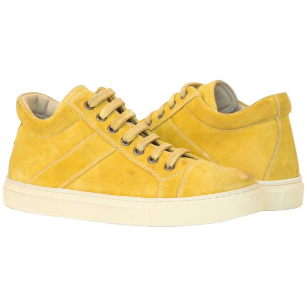 Henrick Yellow Suede Dip Dyed Sneakers full-size #1