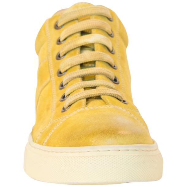 Henrick Yellow Suede Dip Dyed Sneakers thumb #3