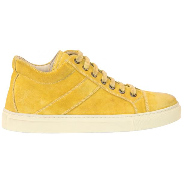 Henrick Yellow Suede Dip Dyed Sneakers thumb #4
