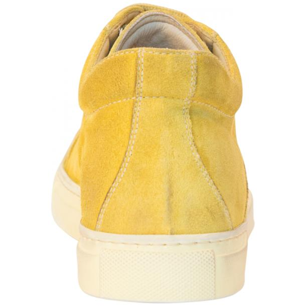 Henrick Yellow Suede Dip Dyed Sneakers thumb #5