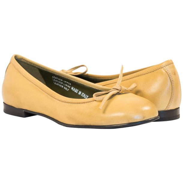 Sammie Lemon Nappa Leather Bow Ballerina Flat  full-size #1