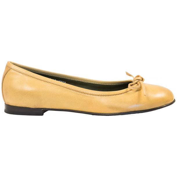 Sammie Lemon Nappa Leather Bow Ballerina Flat  thumb #4
