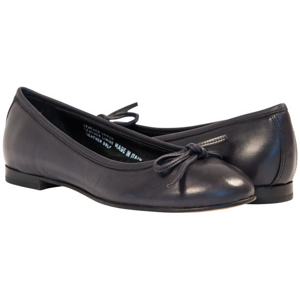 Nadia Black Dip Dyed Nappa Leather Bow Ballerina Flat thumb #1