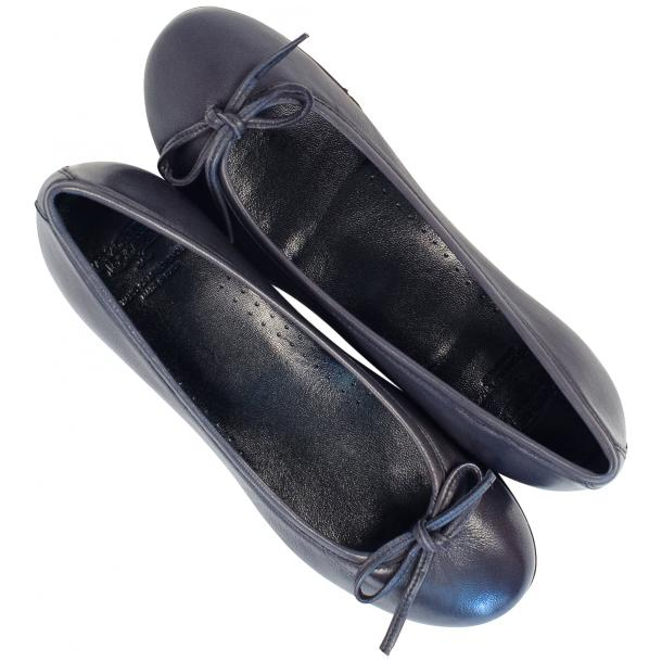 Nadia Black Dip Dyed Nappa Leather Bow Ballerina Flat thumb #2
