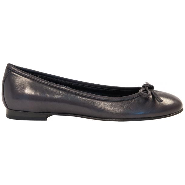 Nadia Black Dip Dyed Nappa Leather Bow Ballerina Flat thumb #4