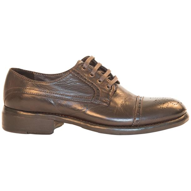Diana Dip Dyed Brown Leather Cap toe Lace Up Shoes thumb #4