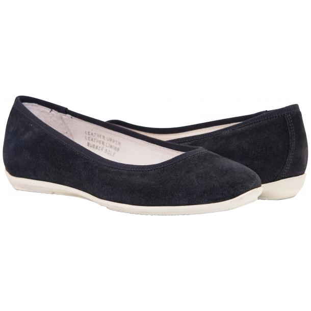 Mimi Blue Dip Dyed Suede Ballerina Flats full-size #1