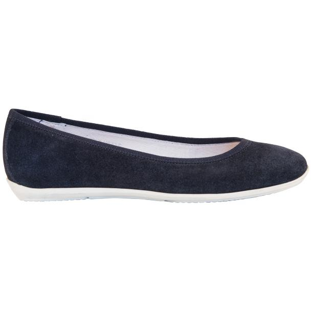 Mimi Blue Dip Dyed Suede Ballerina Flats thumb #4
