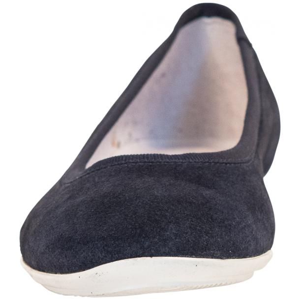 Mimi Blue Dip Dyed Suede Ballerina Flats thumb #3