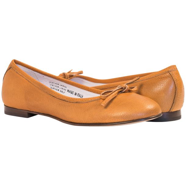 Nadia Brick Dip Dyed Nappa Leather Bow Ballerina Flat  thumb #1