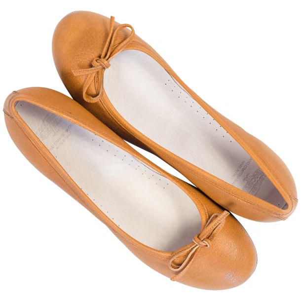 Abbie Brick Dip Dyed Nappa Leather Bow Ballerina Flat  thumb #2