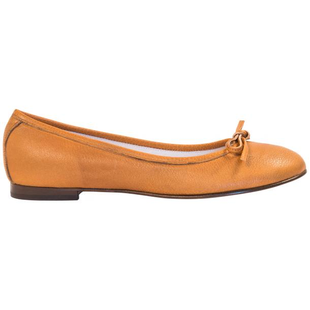 Abbie Brick Dip Dyed Nappa Leather Bow Ballerina Flat  thumb #4