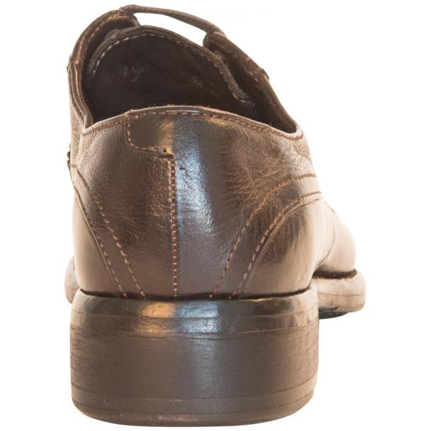 Diana Dip Dyed Brown Leather Cap toe Lace Up Shoes thumb #5