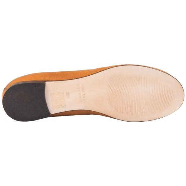 Abbie Brick Dip Dyed Nappa Leather Bow Ballerina Flat  thumb #6