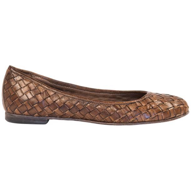 Eliza Dip Dyed Moor Leather Woven Ballerina Flats thumb #4