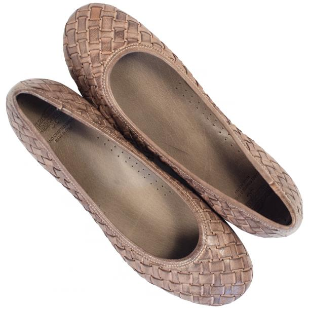 Victoria Dip Dyed Rope Leather Woven Ballerina Flats thumb #2