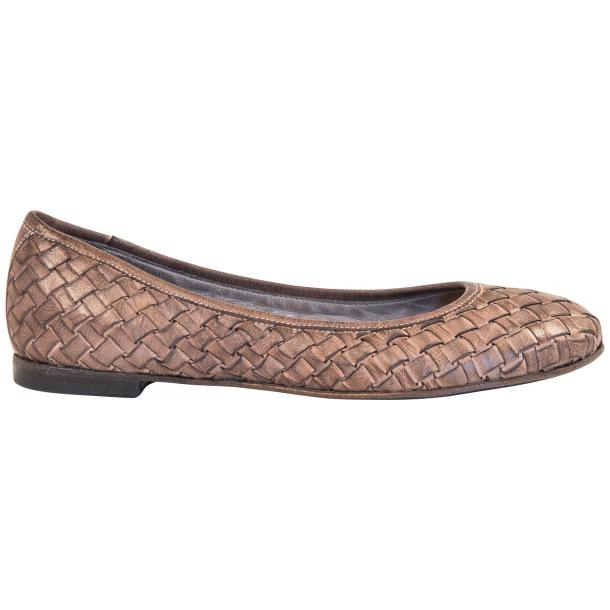 Victoria Dip Dyed Rope Leather Woven Ballerina Flats thumb #4