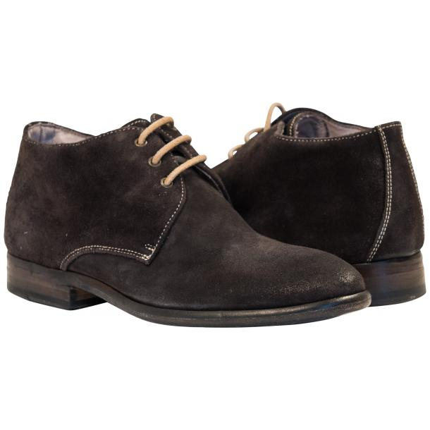 Cala Dark Grey Suede Dip Dyed Desert Chukka Boots full-size #1