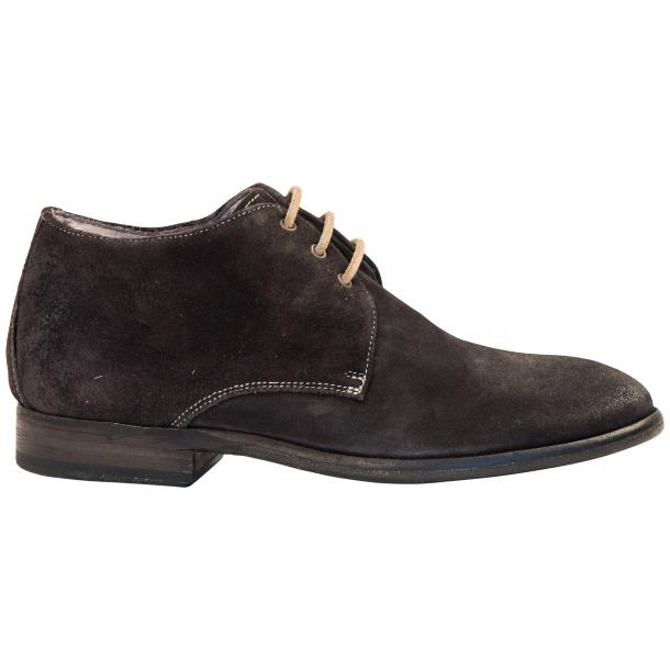 Cala Dark Grey Suede Dip Dyed Desert Chukka Boots full-size #4